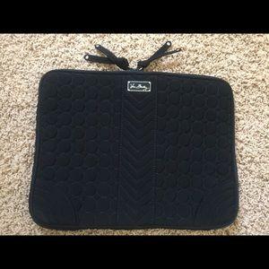 Vera Bradley Black Microfiber Laptop sleeve 11x14